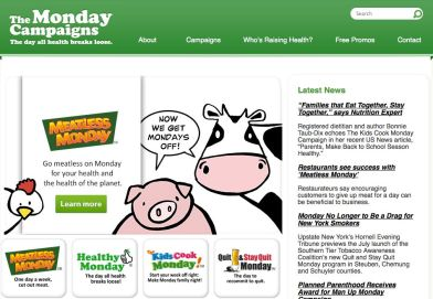 best websites for healthy recipes - meatless monday