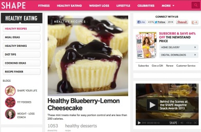 best websites for healthy recipes - shape