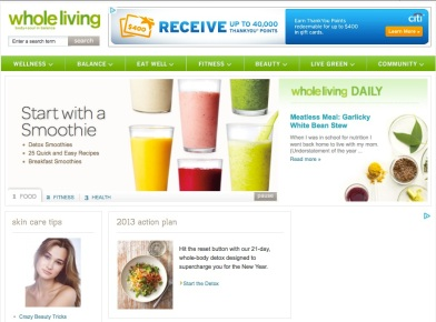 best websites for healthy recipes - whole living