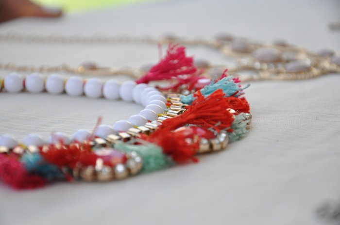 Fashion jewelry on table